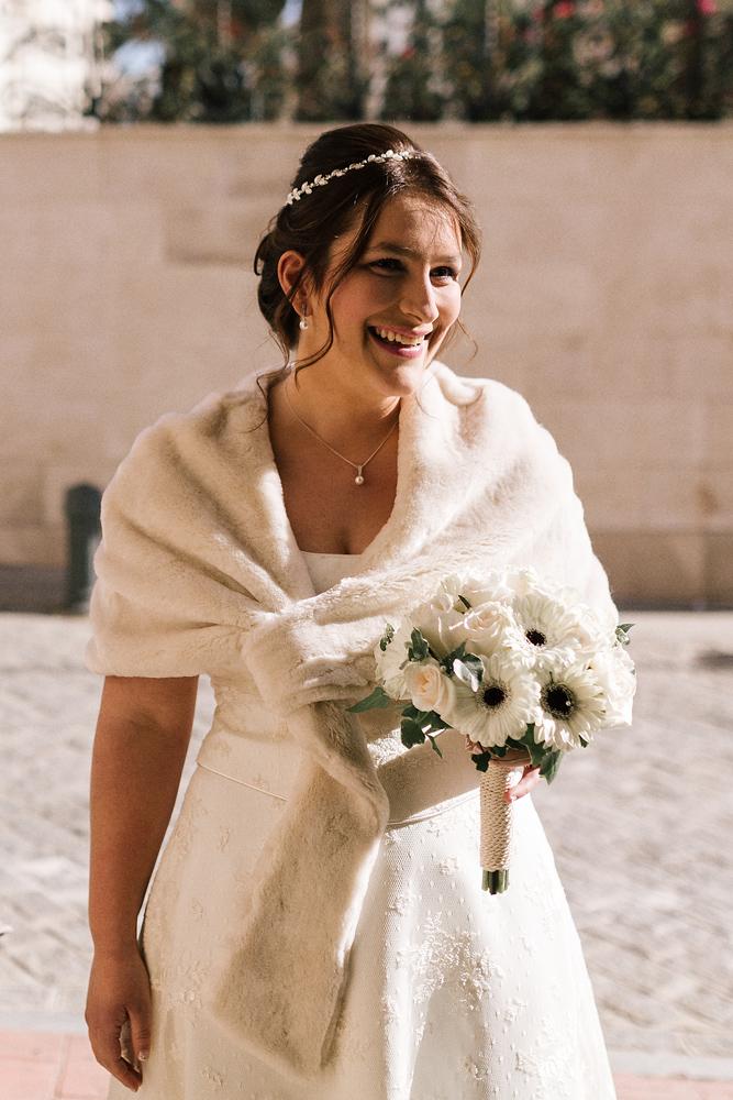 Novia sin velo boda en Archidona fotógrafo de Málaga