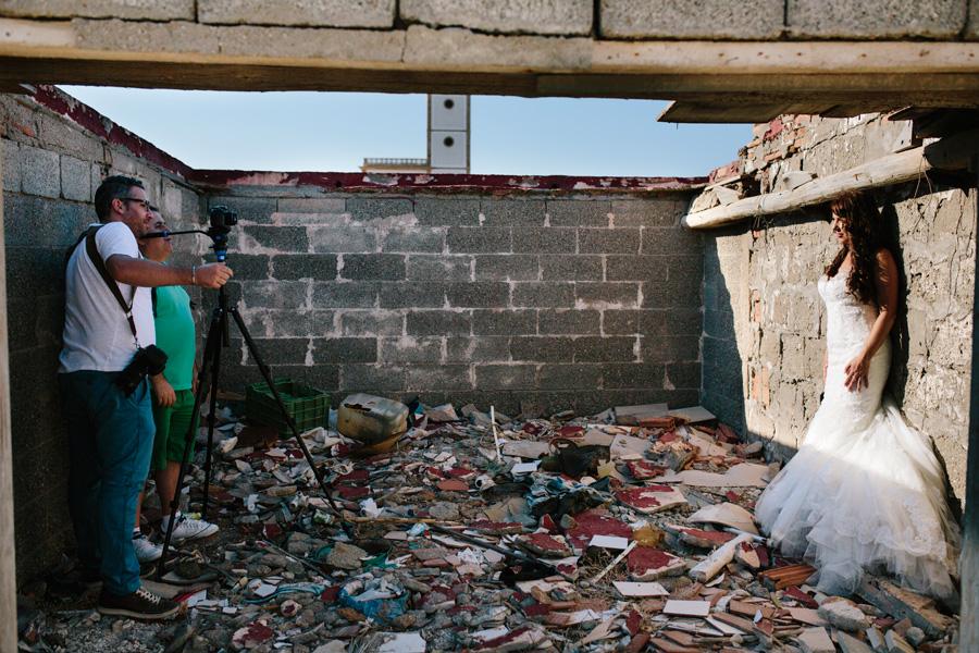 Fotógrafo y videografo de granada con la novia
