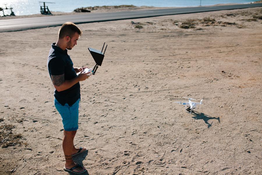 videografo de boda en Granada con su dron