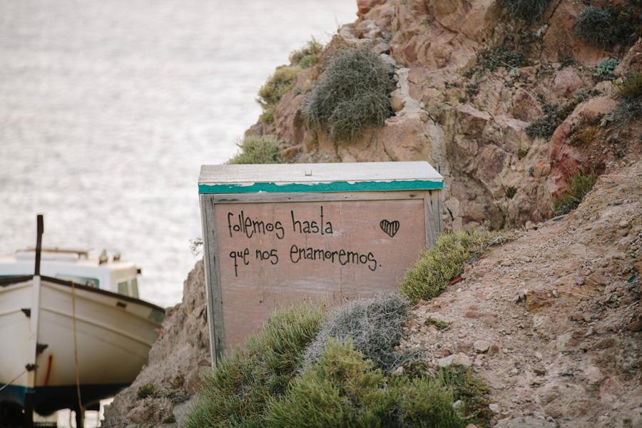 Arrecife de las sirenas en cabo de gata (Almería)