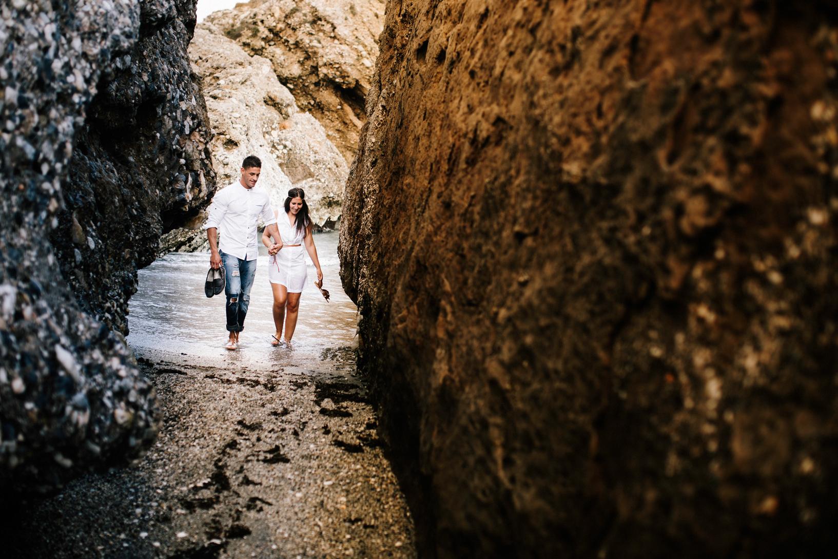 Pre boda en nerja (málaga) de Luis & Rocío
