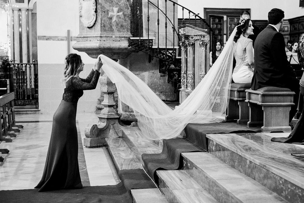 velo de novia, velos para novias, fotógrafo de Málaga y Granada, boda en Coín